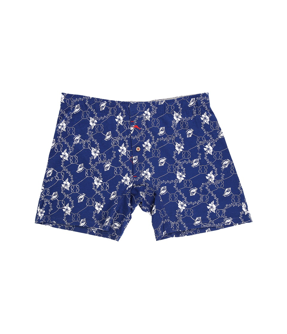 Tommy Bahama - Printed Knit Boxer Brief (Flower Shell Rope Bering Blue) Men's Underwear