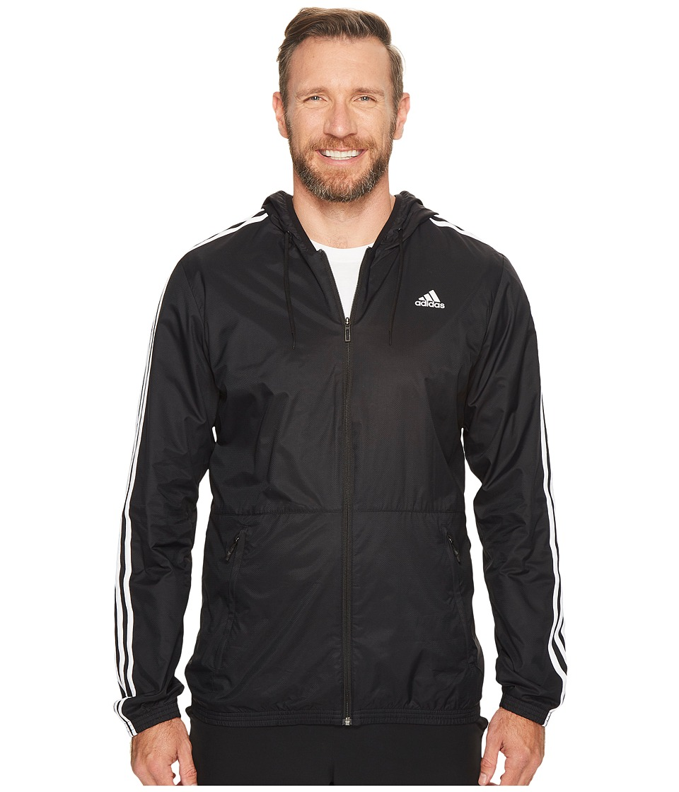 adidas - Big Tall Essentials Wind Jacket (Black/White) Men's Coat