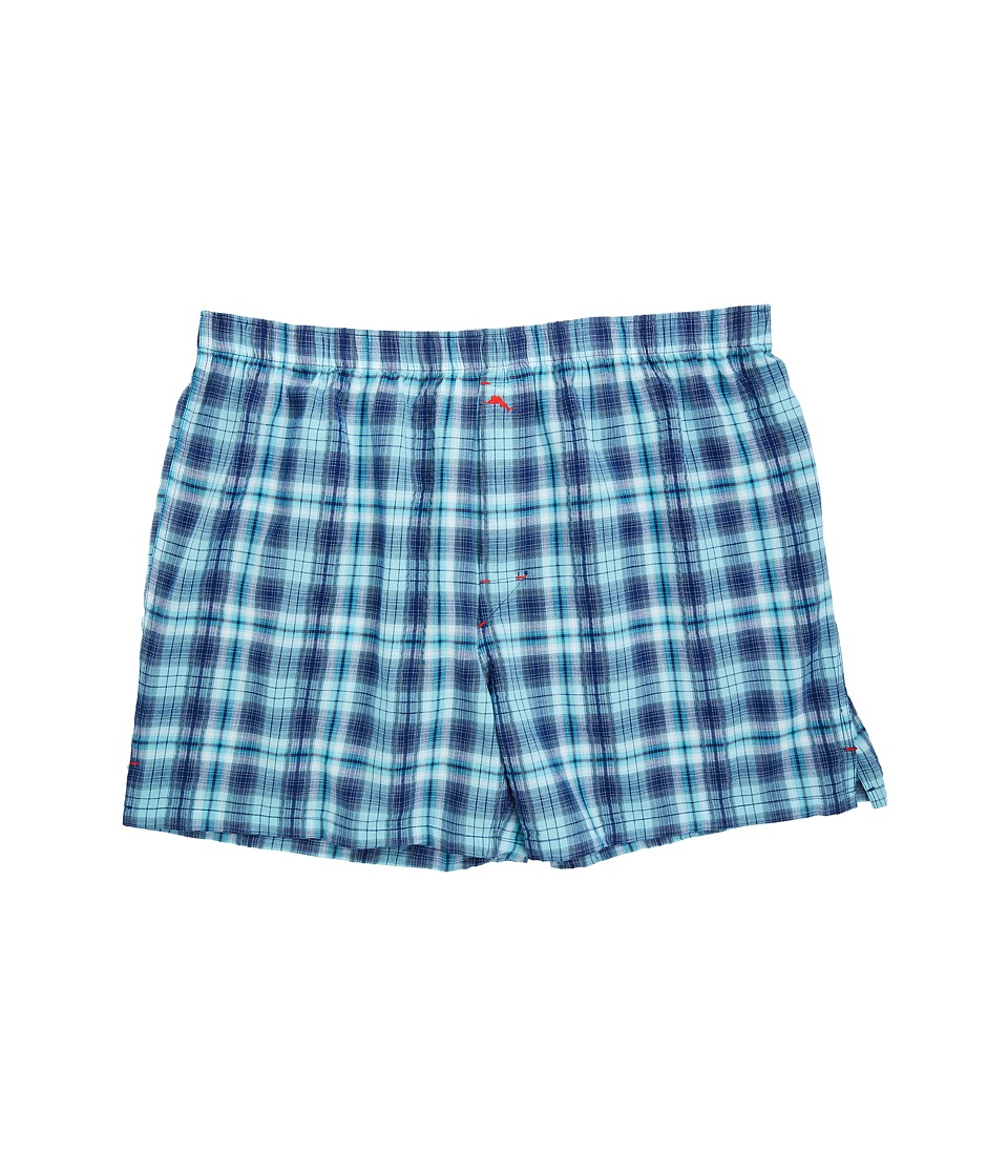 Tommy Bahama - Woven Boxer - Big (Blue Plaid) Men's Underwear