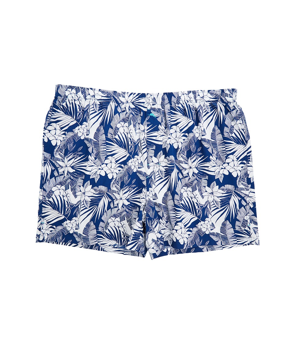 Tommy Bahama - Woven Boxer - Big (All Over Floral Bering Blue) Men's Underwear