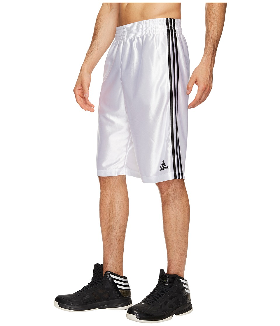 adidas - Big Tall Basic Shorts 4 (White/Black) Men's Shorts