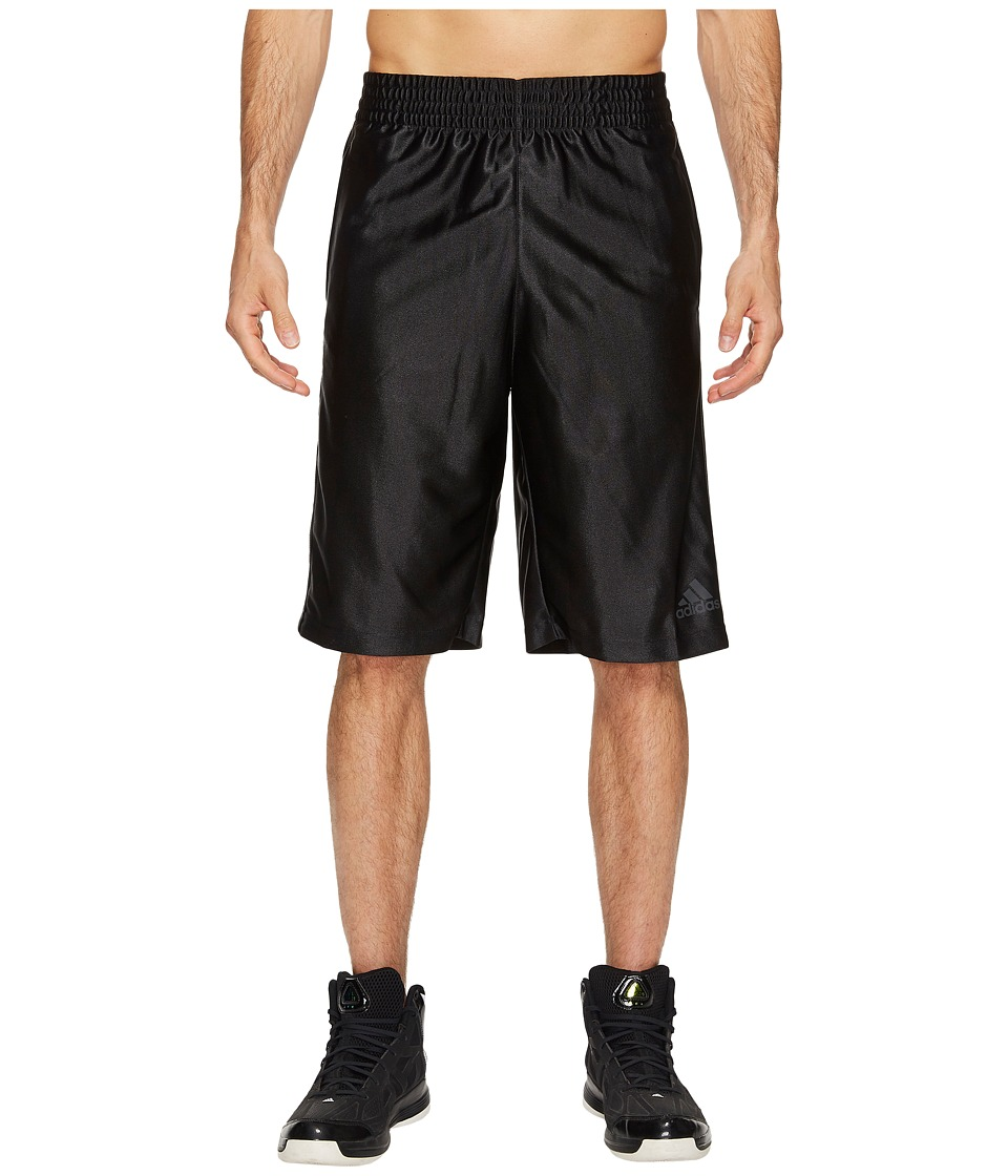 adidas - Big Tall Basic Shorts 4 (Black/Dark Grey Heather Solid Grey) Men's Shorts