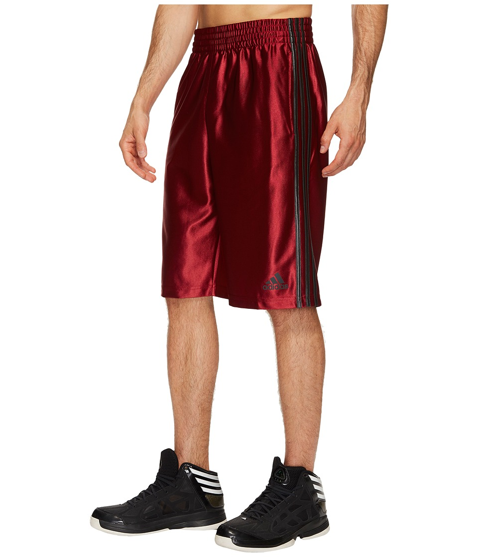 adidas - Big Tall Basic Shorts 4 (Collegiate Burgundy/Dark Grey Heather Solid Grey) Men's Shorts