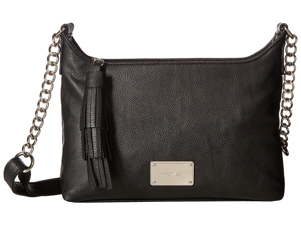 Nine West - Tasseled Medium Crossbody (Black) Handbags
