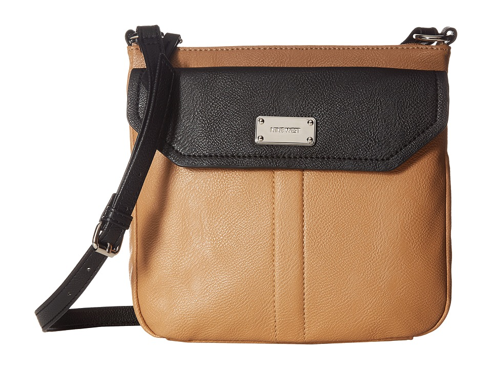 Nine West - Room In (Dark Camel/Black) Handbags