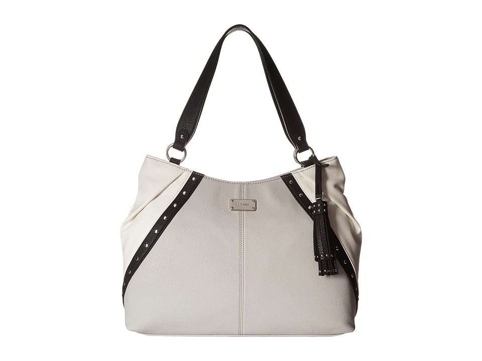 Nine West - Split Mix (Snow Petal/Black/Black/Snow Petal) Handbags