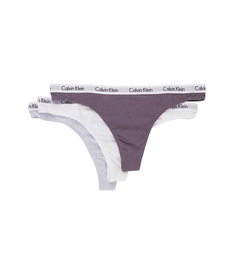 Calvin Klein Underwear - Carousel 3-Pack Thong (Interlude/White/Pure Ice) Women's Underwear