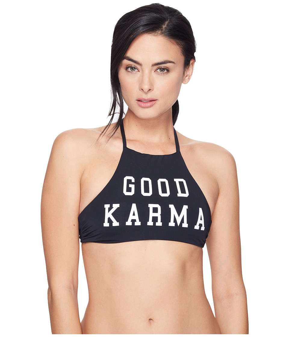 Spiritual Gangster - Good Karma Spirit Top (Black) Women's Workout