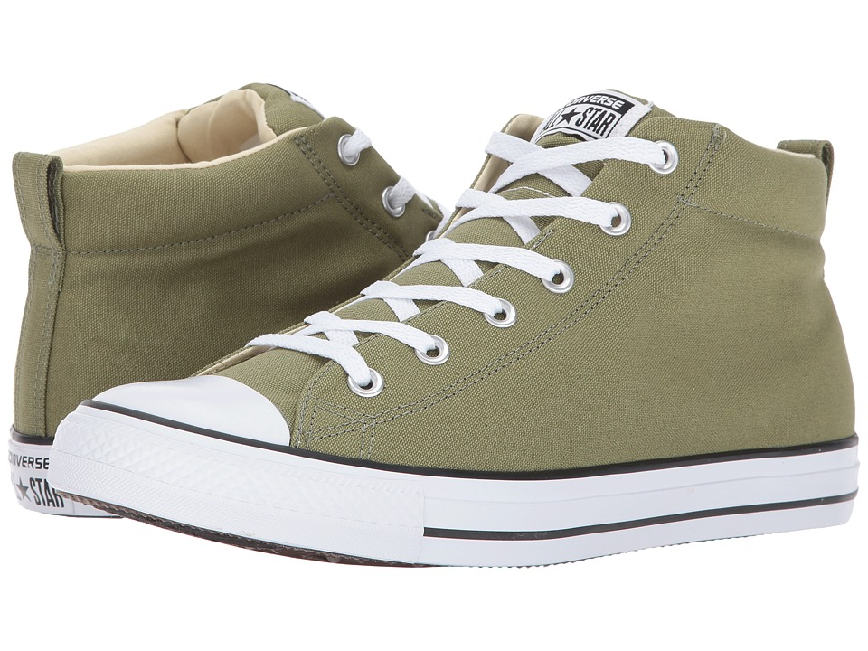 Converse Chuck Taylor All Star Street Mid (Fatigue Green/Black) Classic Shoes