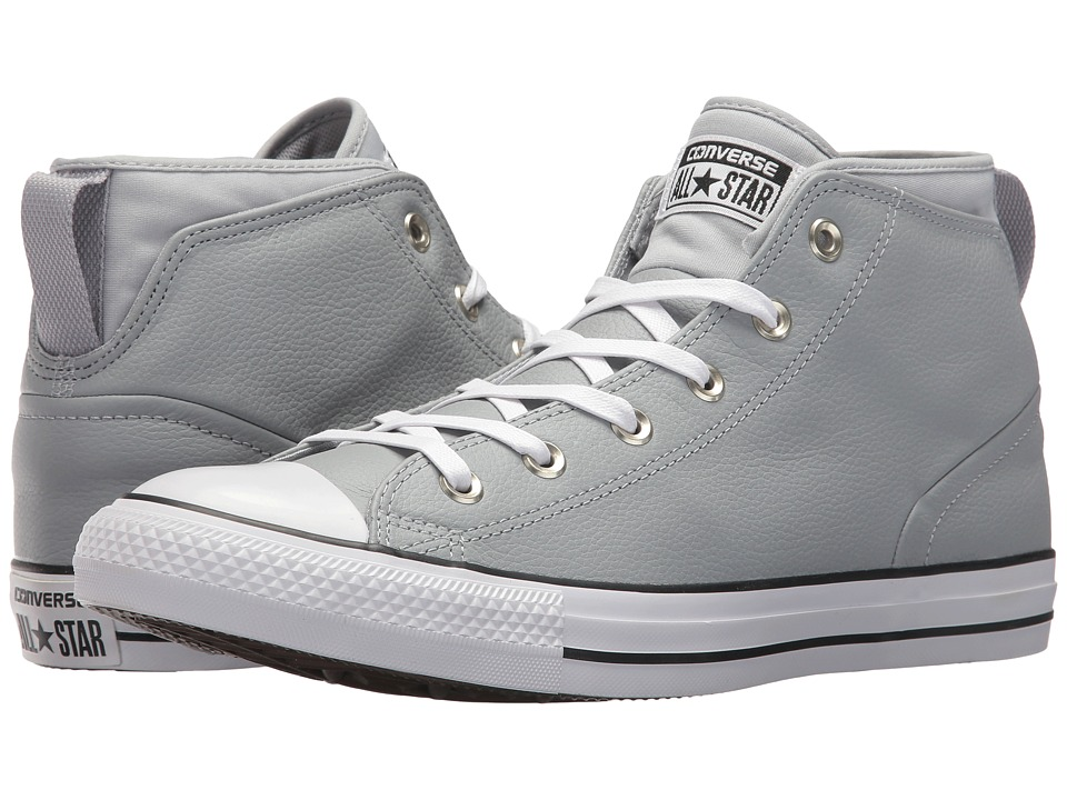 Converse - Chuck Taylor All Star Syde Street Leather Mid (Wolf Grey/Wolf Grey/White) Classic Shoes