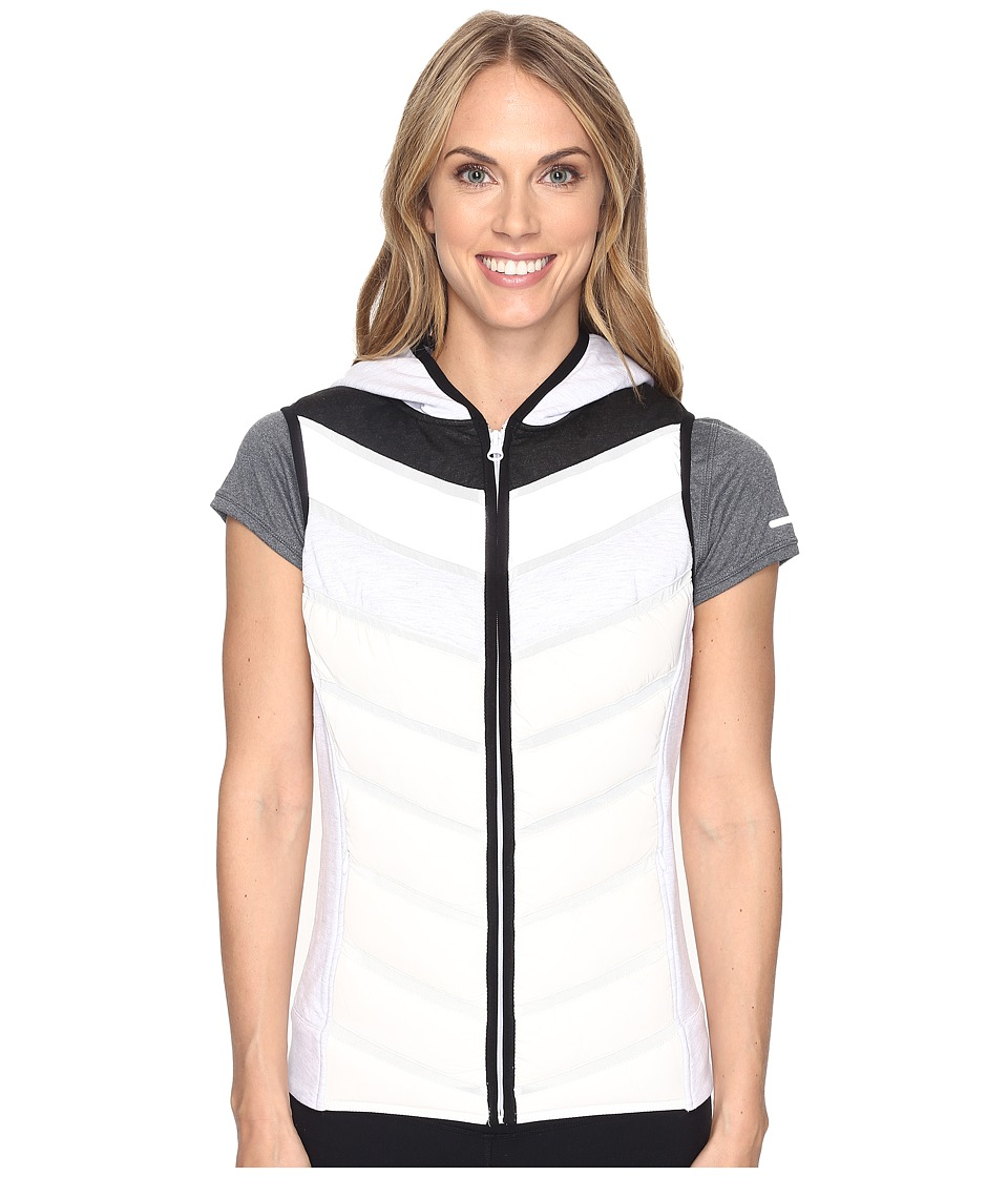 Blanc Noir - Packable Moto Vest (Ash Grey/White/Silver) Women's Vest