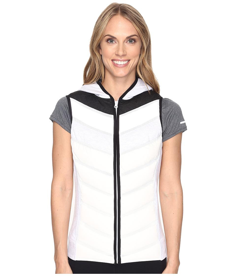 Blanc Noir - Packable Moto Vest (Ash Grey/White/Silver) Women's Vest