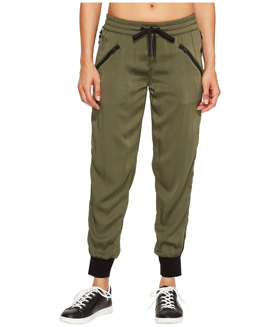 Blanc Noir - Aviator Pants (Olive/Black) Women's Workout