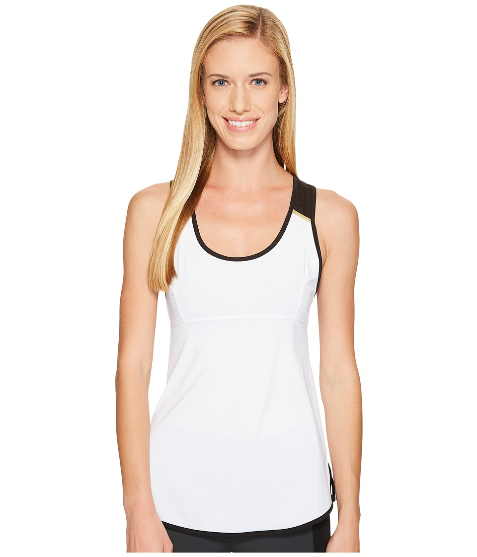 Blanc Noir Mesh Back Tank (White) Women