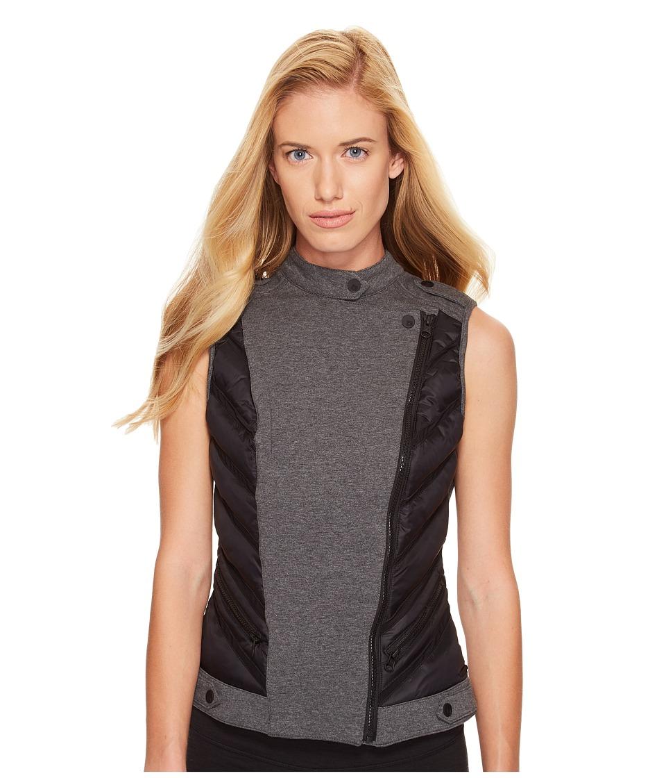 Blanc Noir Moto Inset Vest (Black/Charcoal) Women