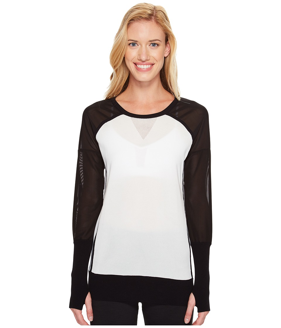 Blanc Noir - Mesh Vent Sweater (White) Women's Sweater