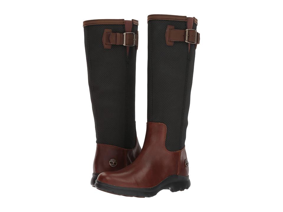 Timberland Turain Tall Waterproof Boot (Medium Brown TecTuff Leather) Women