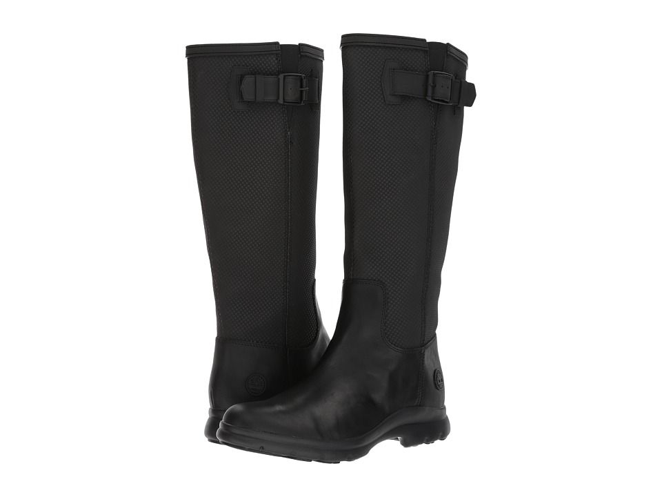 Timberland Turain Tall Waterproof Boot (Black Leather) Women