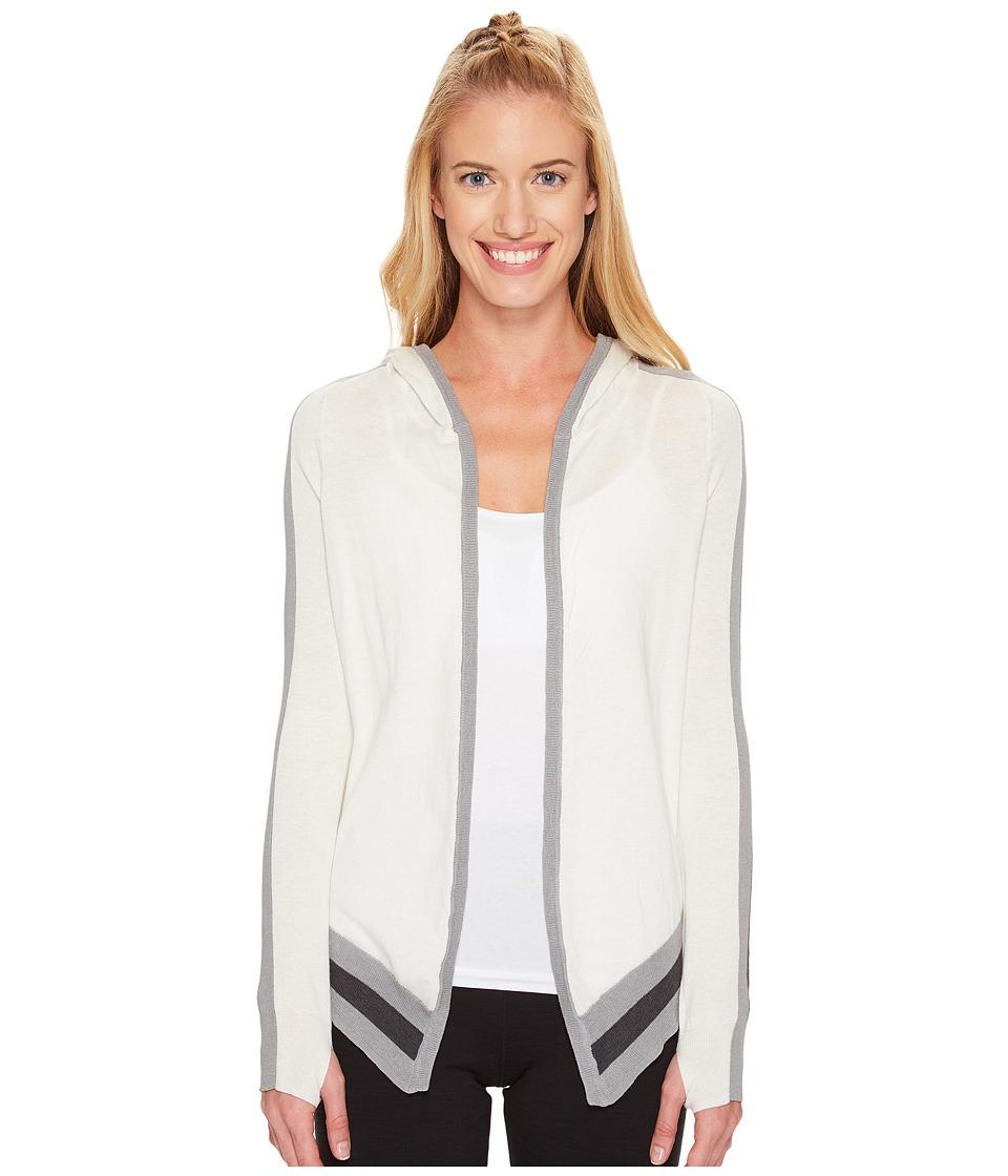 Blanc Noir - Hooded Wrap Cardigan (White) Women's Sweater