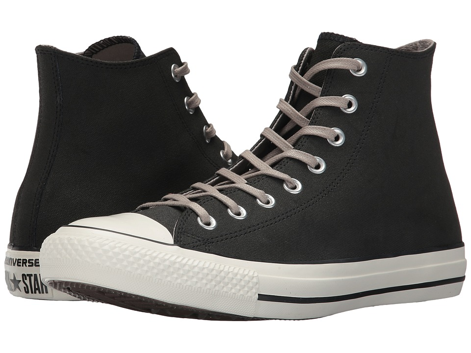 Converse Chuck Taylor All Star Coated Leather Hi (Black/Malted/Egret) Classic Shoes