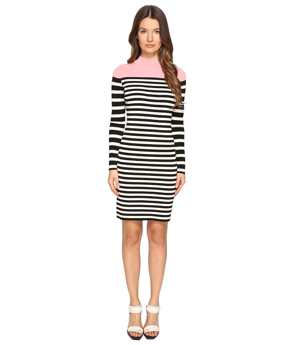 Sonia by Sonia Rykiel - Color Block and Striped Dress (Black/Ecru/Blush) Women's Dress
