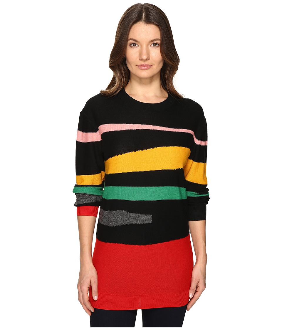Sonia Rykiel - Geometric Intarsia Dress (Black/Multicolor) Women's Dress