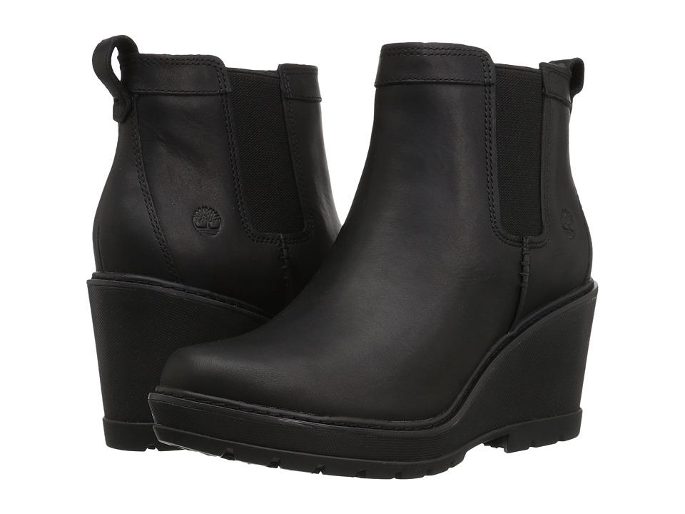 Timberland Kellis Double Gore Chelsea Boot (Black Full-Grain) Women