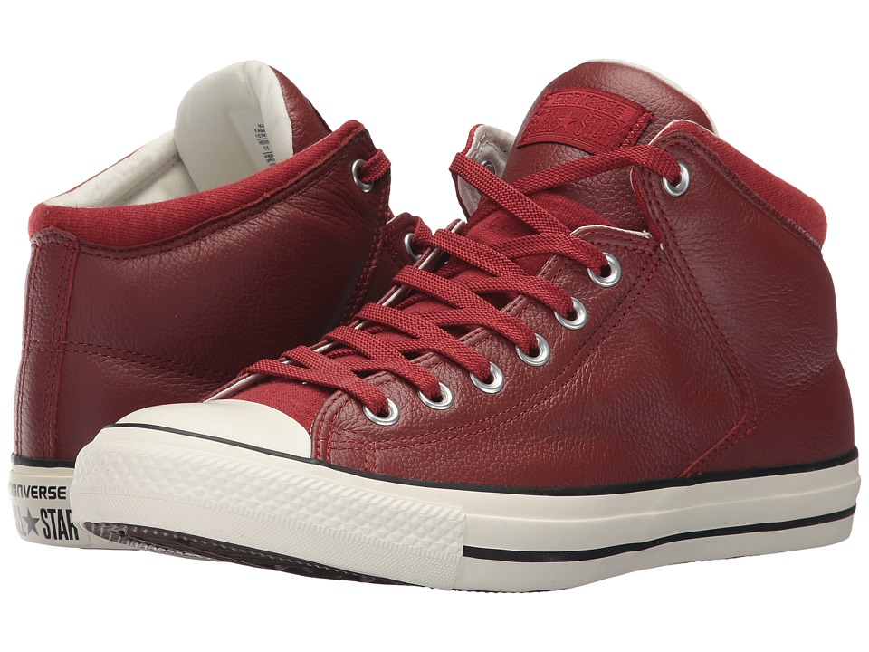 Converse - Chuck Taylor All Star Street Hi - Tumbled Leather (Terra Red/Terra Red) Classic Shoes