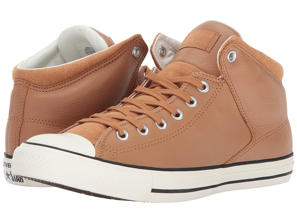 Converse Chuck Taylor All Star Street Hi Tumbled Leather (Raw Sugar/Egret) Classic Shoes