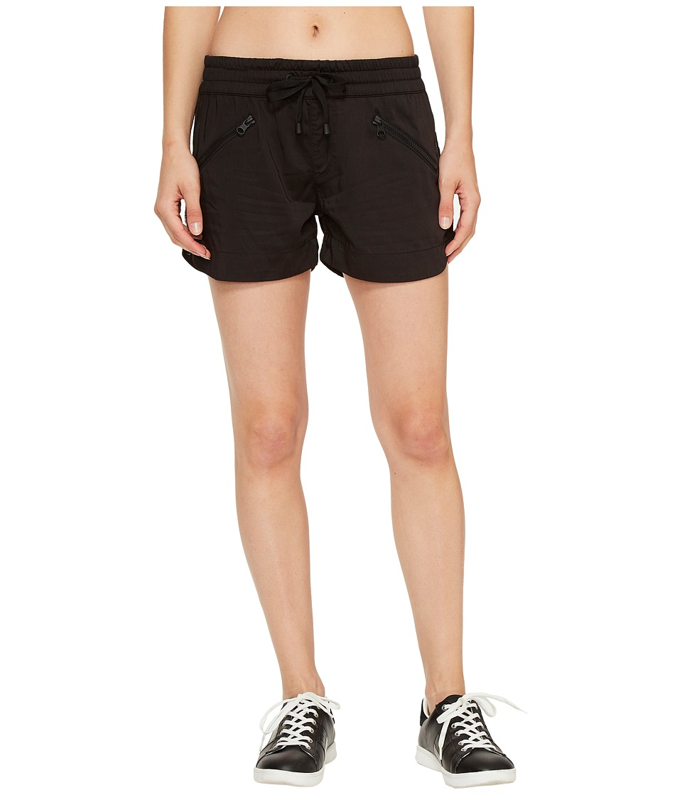 Blanc Noir - Aviator Shorts (Black) Women's Shorts