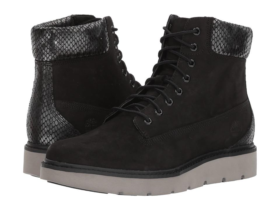 Timberland Kenniston 6 Lace-Up Boot (Black Nubuck) Women