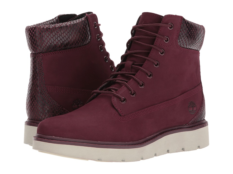 Timberland Kenniston 6 Lace-Up Boot (Dark Red Nubuck) Women