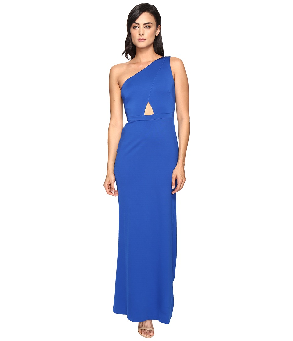 Adrianna Papell Jersey One Shoulder Gown w/ Cutout (Royal) Women