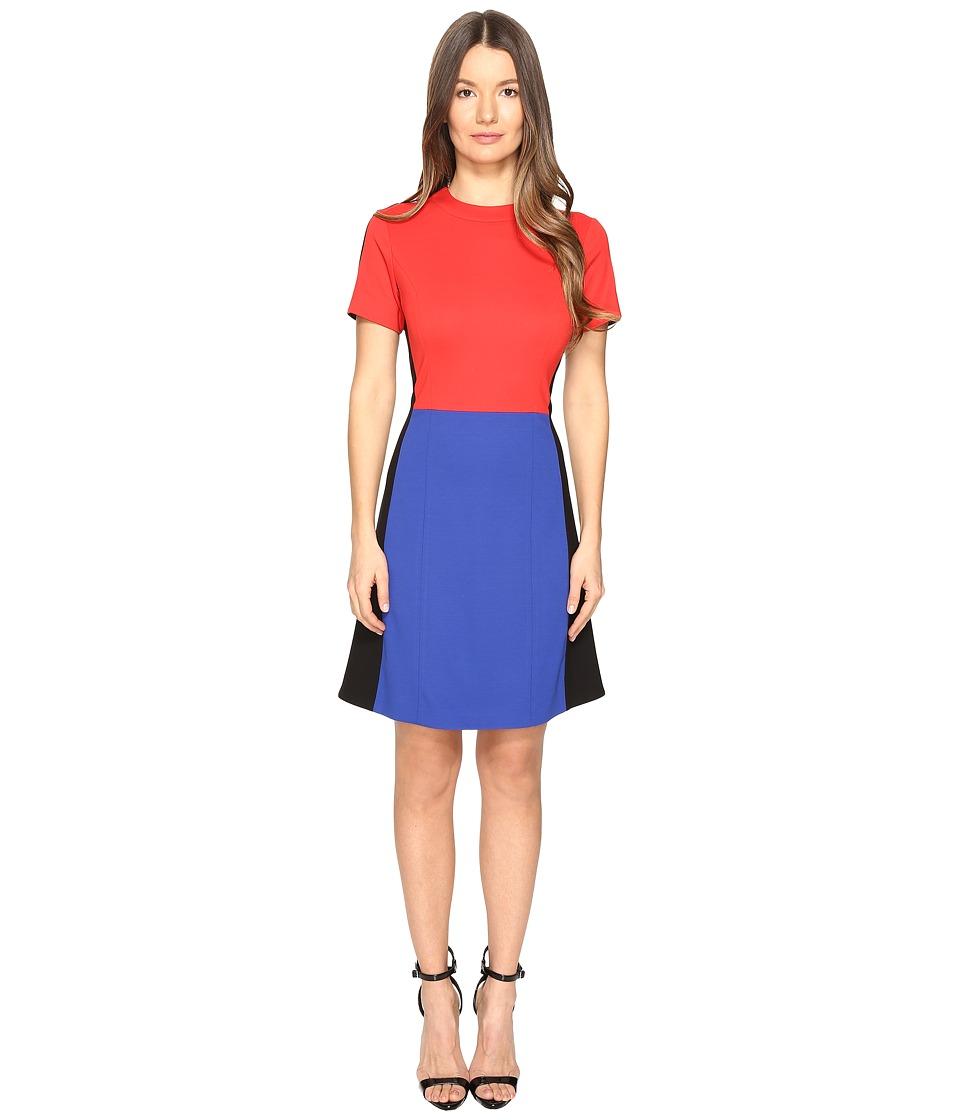 Sonia by Sonia Rykiel - Technical Jersey Dress (Lips/Klein/Black) Women's Dress