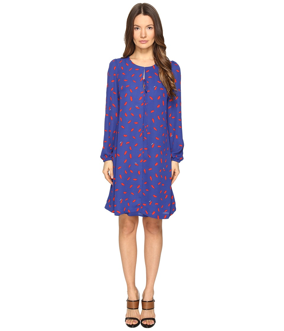 Sonia Rykiel - Lips Print Crepe Dress (Klein/Lips) Women's Dress