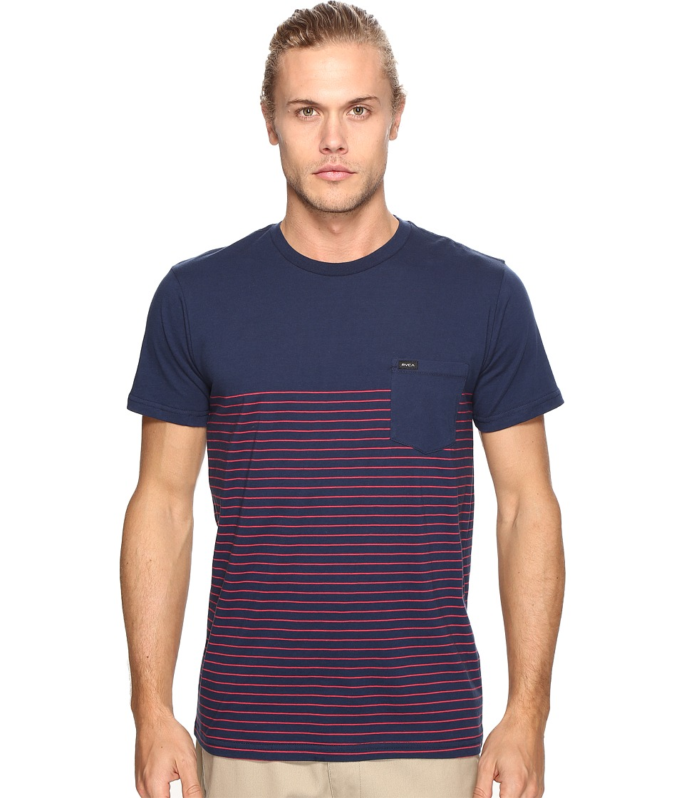 RVCA - Switch Up Knit (Federal Blue) Men's Clothing