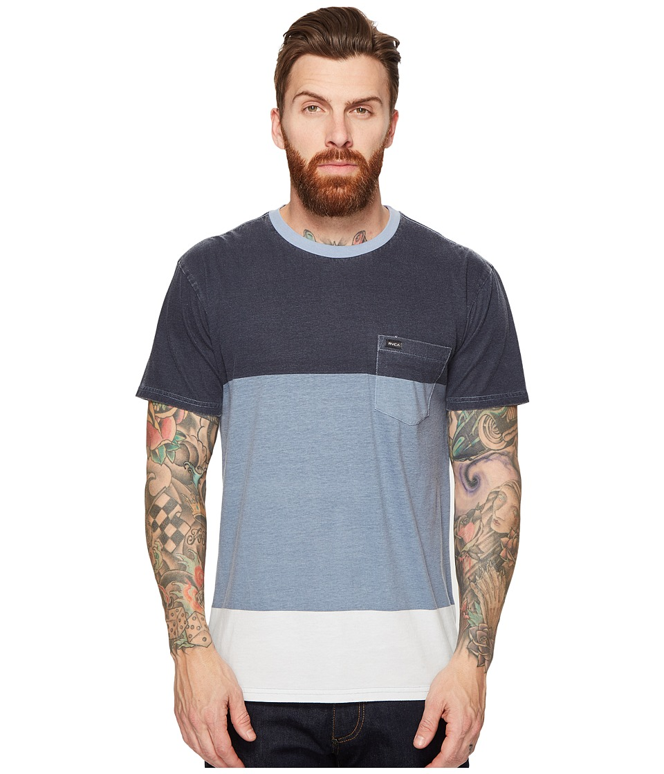 RVCA - Block Down Knit (Blue Slate) Men's Clothing