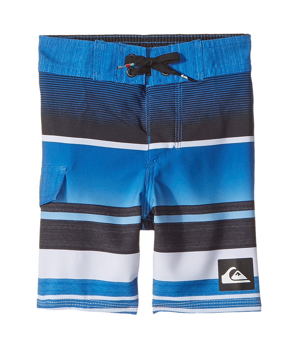 Quiksilver Kids Everyday Stripe Vee Boardshorts (Toddler/Little Kids) (Turkish Sea) Boy