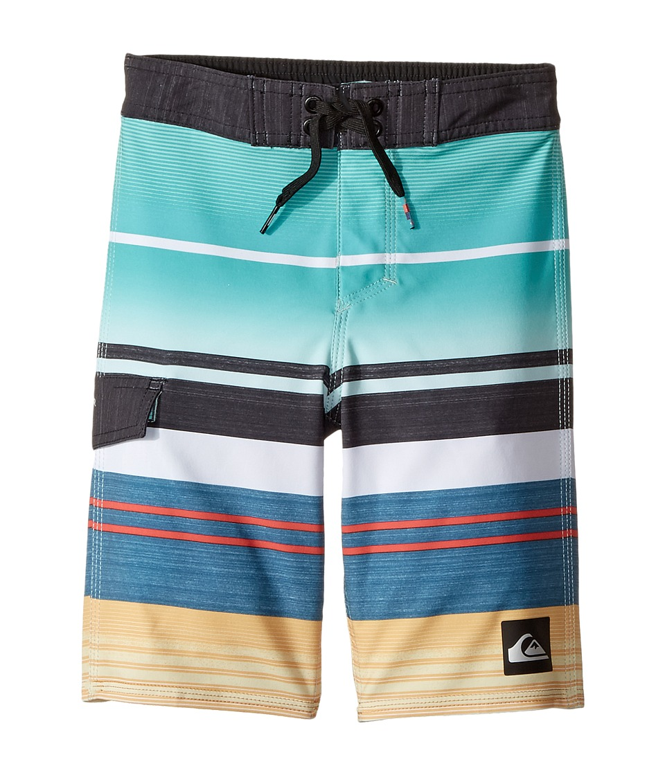 Quiksilver Kids Everyday Stripe Vee Boardshorts (Toddler/Little Kids) (Pool Blue) Boy