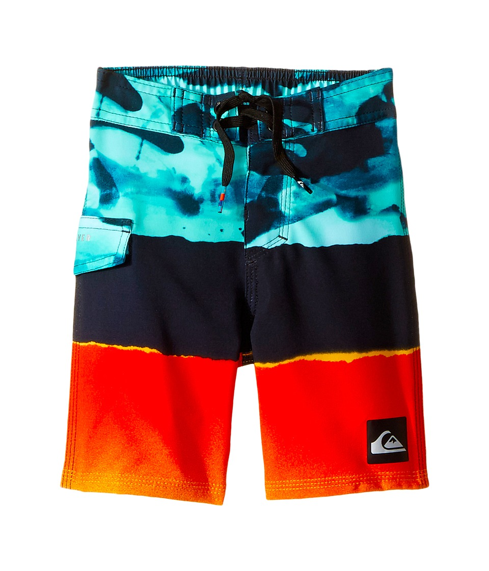 Quiksilver Kids Blocked Resin Camo Boardshorts (Toddler/Little Kid) (Moroccan Blue) Boy