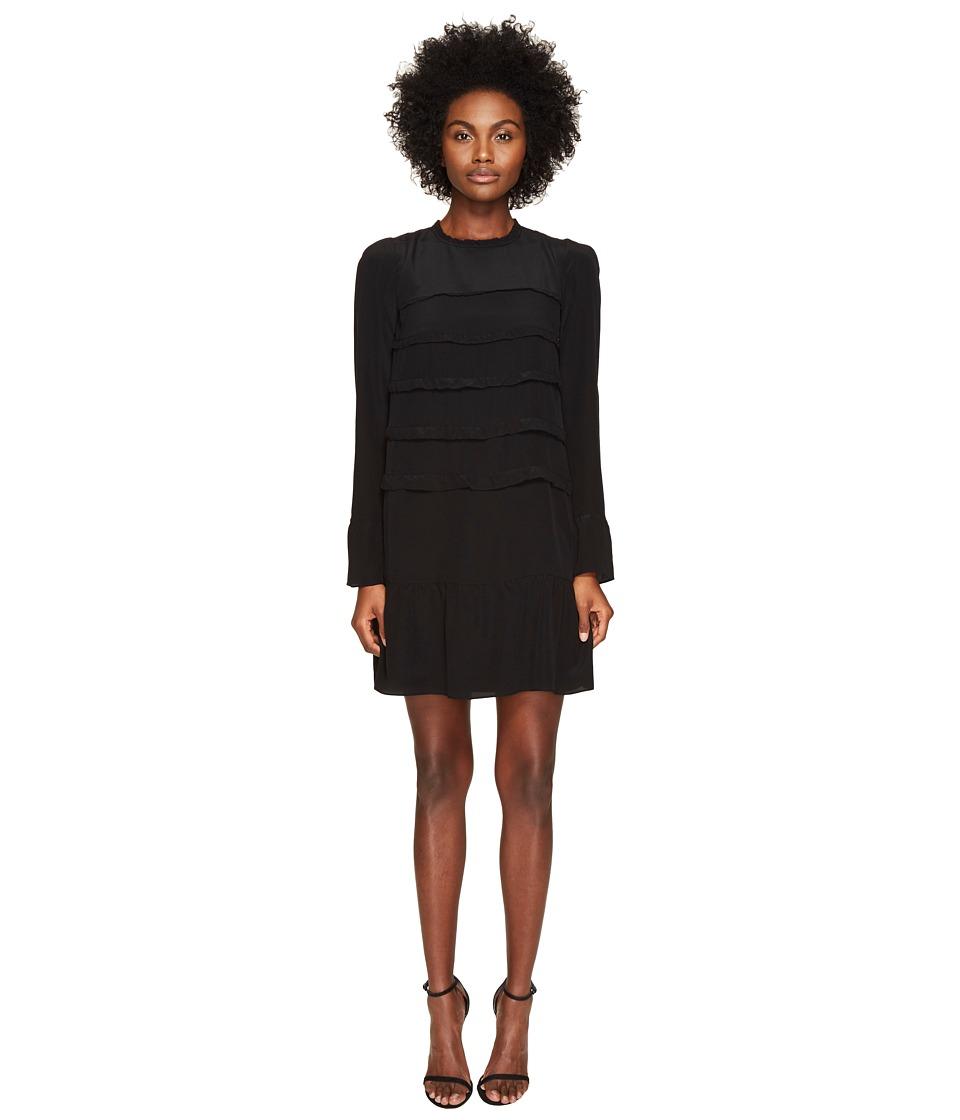 Sonia by Sonia Rykiel - Silk Crepe Dress (Black) Women's Dress