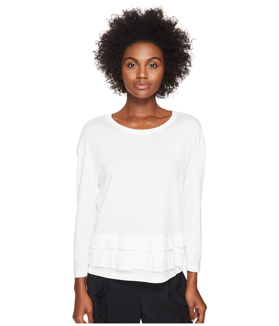 Sonia by Sonia Rykiel - Tencel Cotton Sweater w/ Frills (Ecru) Women's Sweater