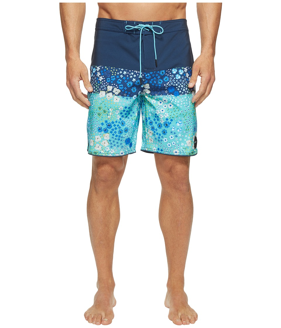 RVCA - Lei Trunk (Federal Blue) Men's Swimwear