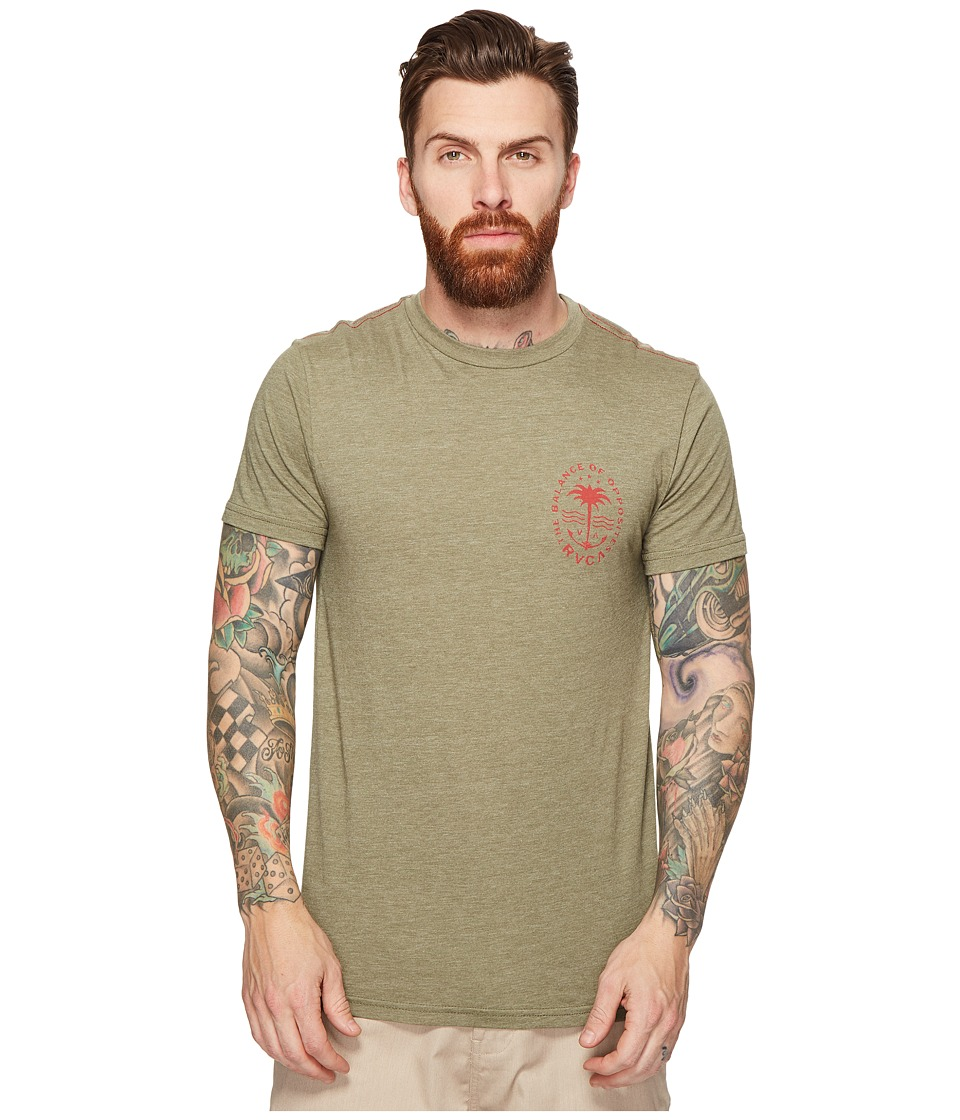 RVCA - Anchor Palm Tee (Fatigue) Men's T Shirt