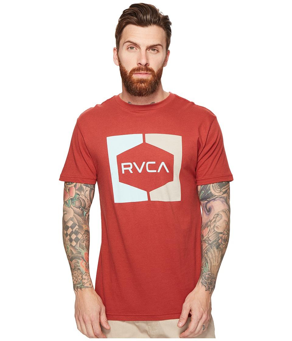 RVCA Invert Hex Tee (Rosewood) Men