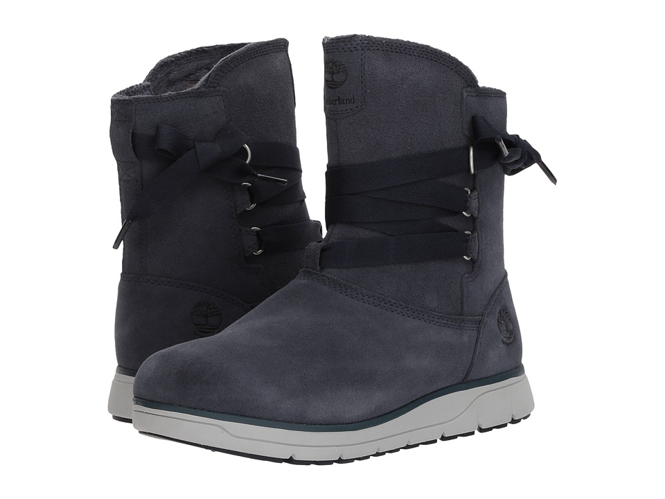Timberland Leighland Pull-On Waterproof Boot (Navy Suede) Women