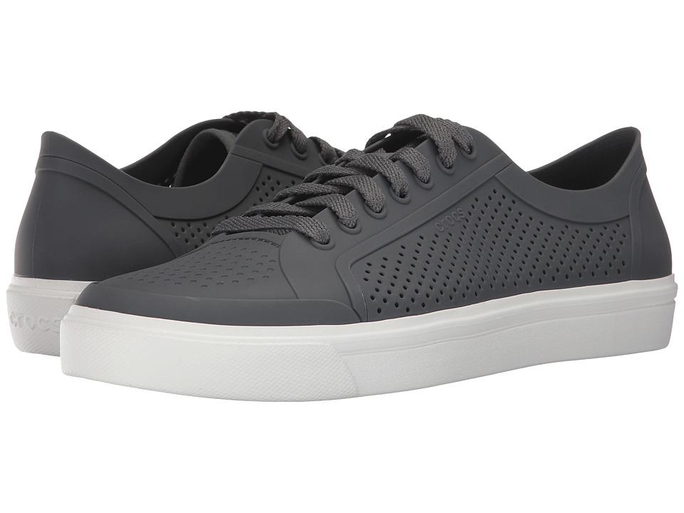 Crocs CitiLane Roka Court (Slate Grey/White) Lace up casual Shoes