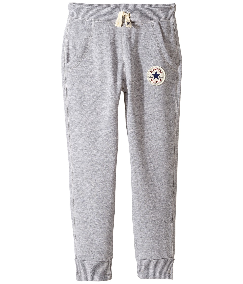 Converse Kids - Core Rib Cuff Pants (Toddler/Little Kids) (Vintage Grey Heather) Boy's Casual Pants
