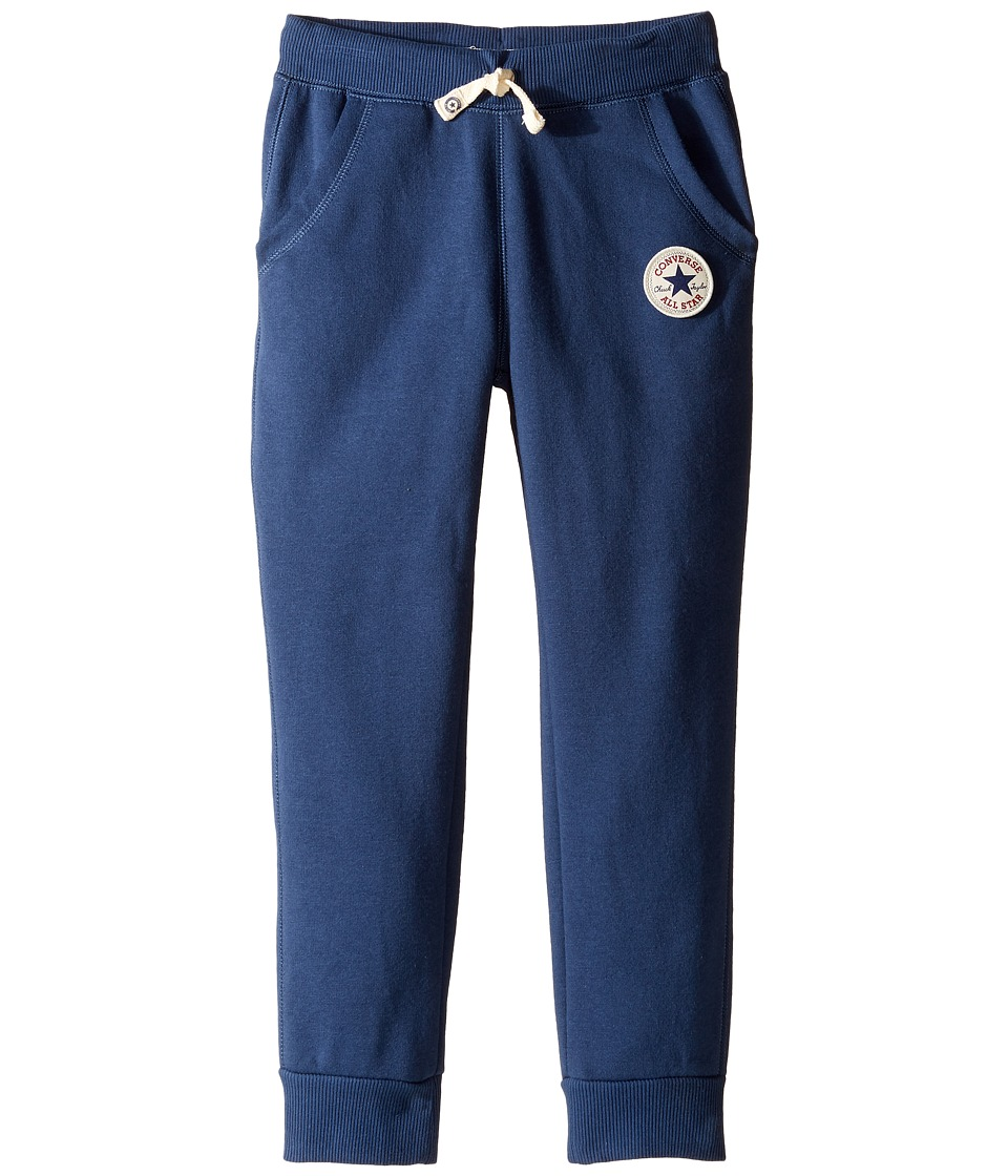Converse Kids - Core Rib Cuff Pants (Toddler/Little Kids) (Navy) Boy's Casual Pants