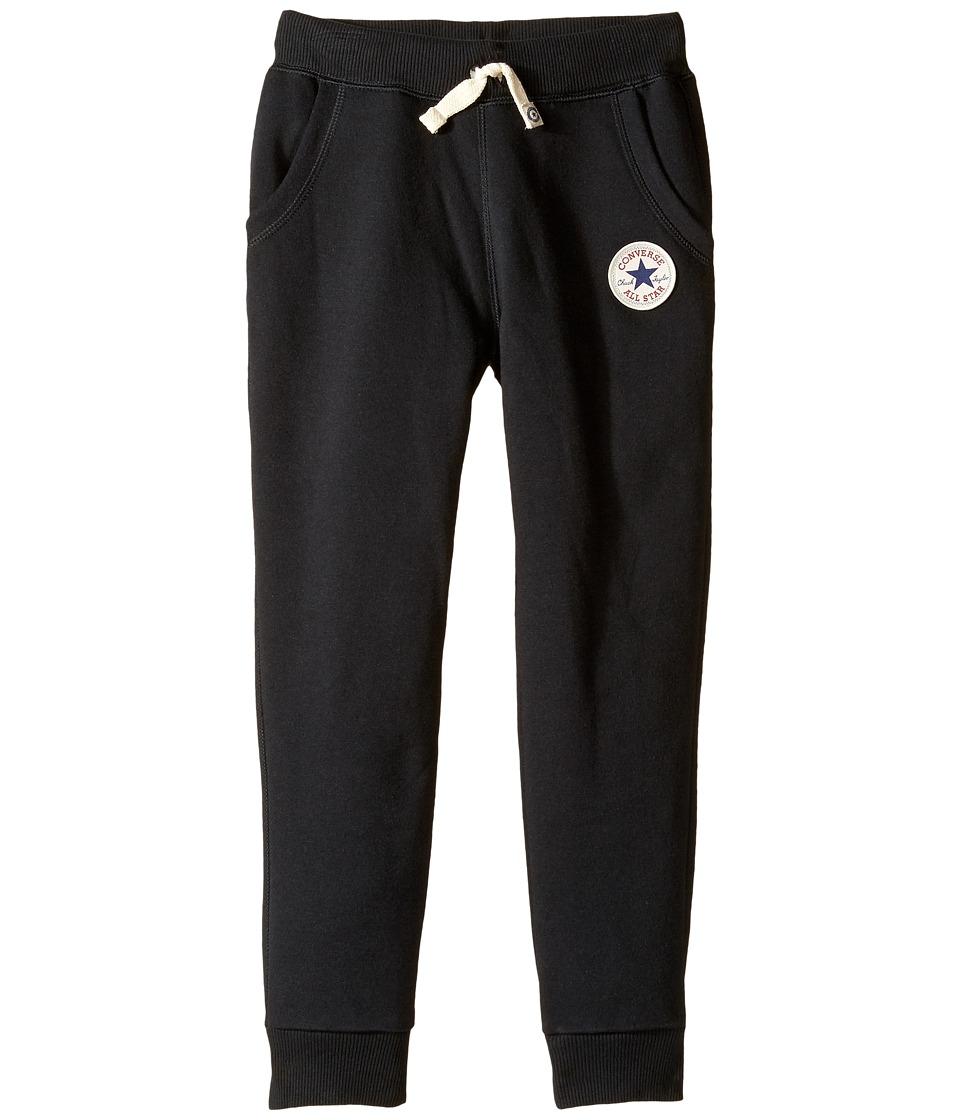 Converse Kids - Core Rib Cuff Pants (Toddler/Little Kids) (Black) Boy's Casual Pants